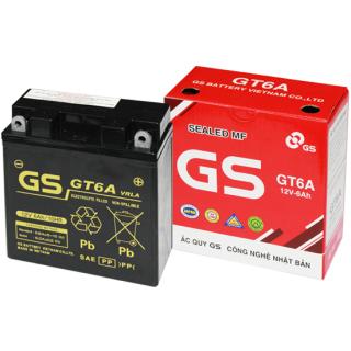 Bình Ắc Quy Khô GS GT6A (12V-6AH), Bình ắc quy xe máy, acquy xe máy, bình ac quy, bình acquy, acquy 12v, bình ắc quy khô xe máy, acquy gs, ắc quy gs - BÌNH MF GS GT6A (12V-6AH)Mã SP GT6A dành cho xe tay ga, dòng xe số Honda, yamaha, Suzuki thumbnail