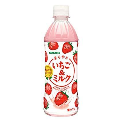 SANGARIA- Nước sữa dâu 500ml - Hàng Nhật nội địa