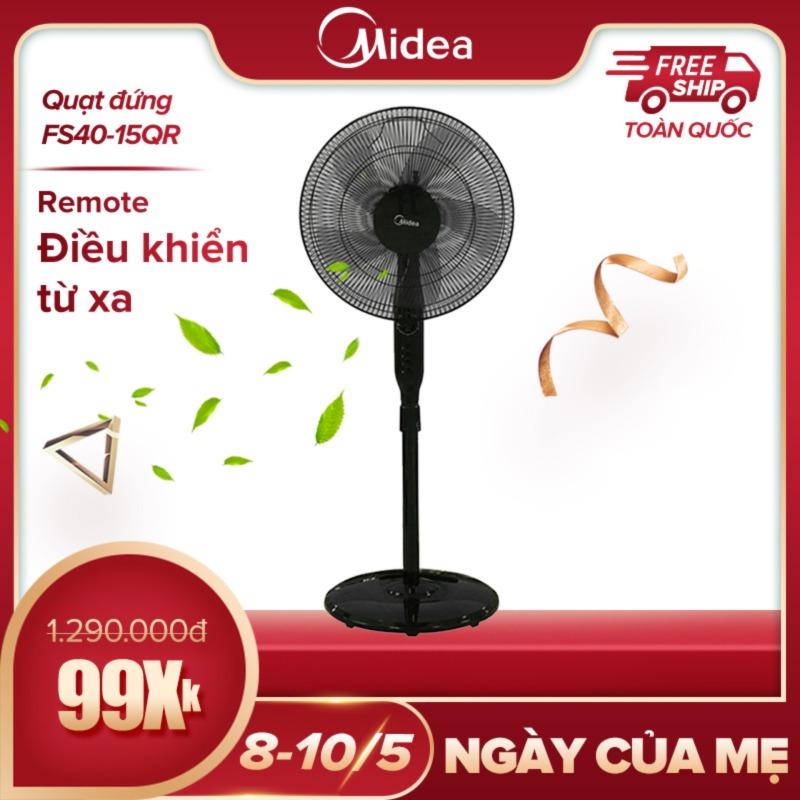 Quạt 55W 5 cánh Midea FS40-15QR (màn hình hiển thị LED 2 chế độ gió tiết kiệm điện) - Hàng phân phối chính hãng bảo hành 2 năm