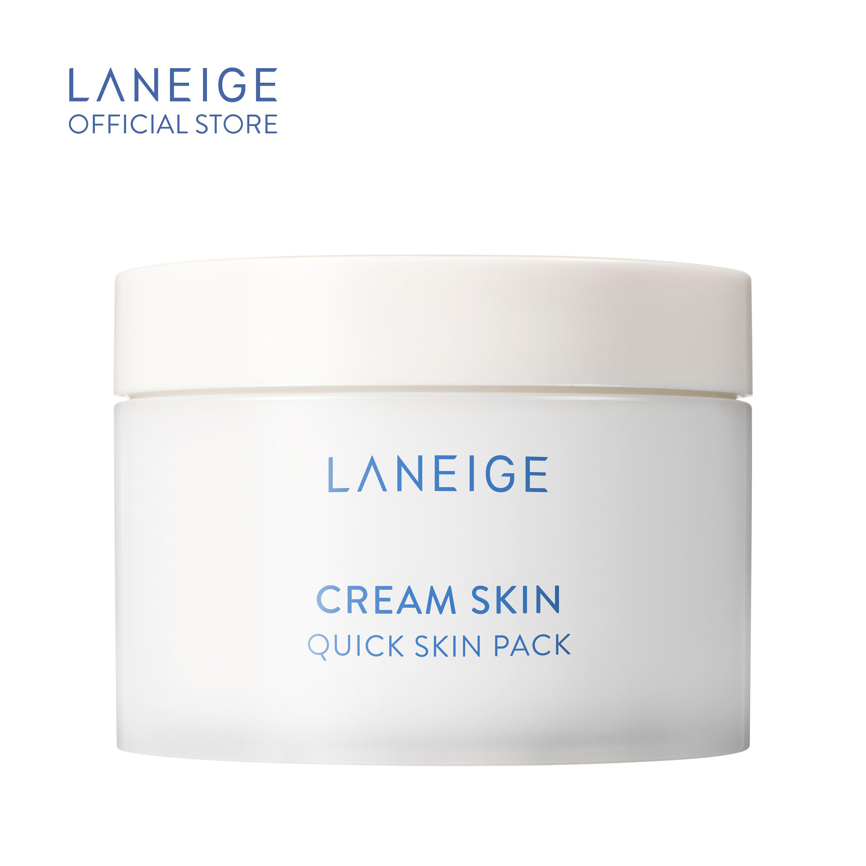 Mặt Nạ Miếng Dưỡng Ẩm Laneige Cream Skin Quick Skin Pack 140Ml (100 Miếng)