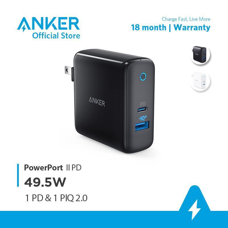 Sạc ANKER PowePort II PD 49.5W với 1 PD và 1 PIQ 2.0 - A2321