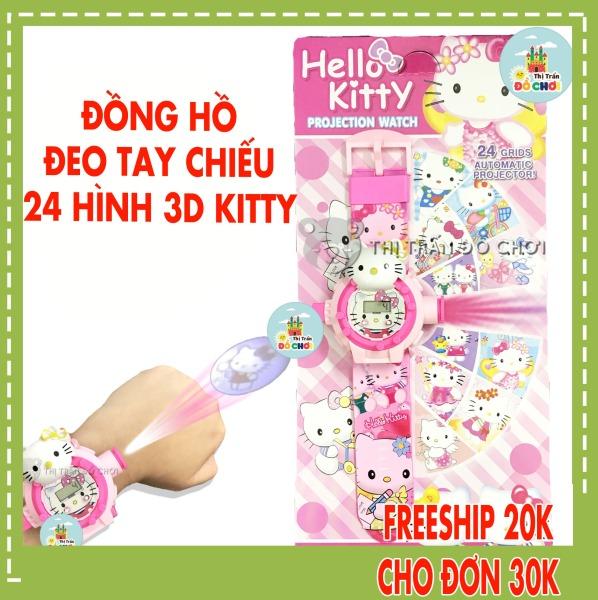 Nơi bán Đồ chơi trẻ em đồng hồ bé gái mẫu mèo hồng 24 hình chiếu 3D 777-136B- Thị trấn đồ chơi