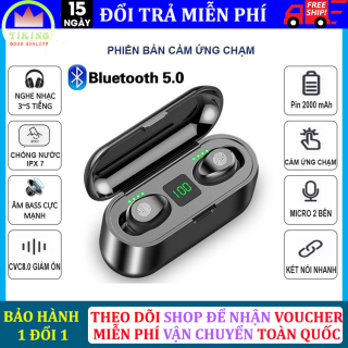 Tai nghe Bluetooth 5.0, tai nghe Bluetooth không dây 5.0, Amoi F9 kiêm sạc dự phòng 2000mAh, điều khiển cảm ứng, màn led báo pin, chống nước, chống ồn, âm thanh HiFi TWS True siêu Bass, siêu trầm micro HD tương thích với mọi dòng smart phone thumbnail