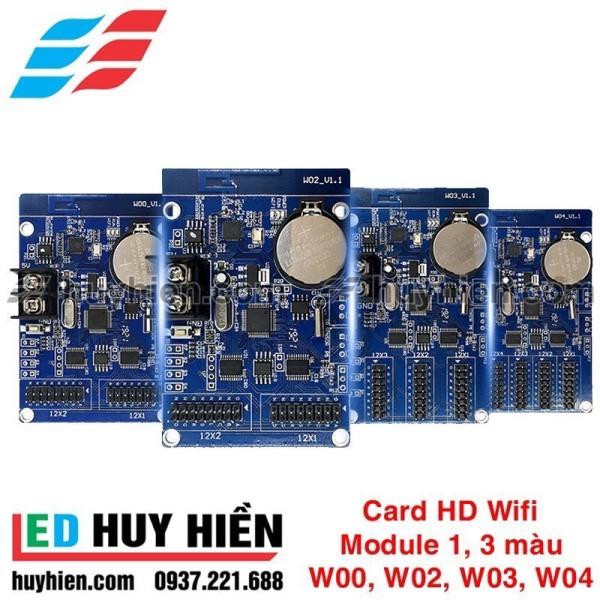 Card Wifi HD W00, W02, W03, W04 Module led 1 màu, 3 màu