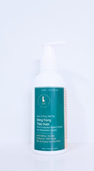 Kem Ủ Phục Hồi Tóc Đông Trùng Thảo Dược - Made by LEOS - The Herb Lab (Pure Cordyceps Robert Herbal Hair Restoration Cream)