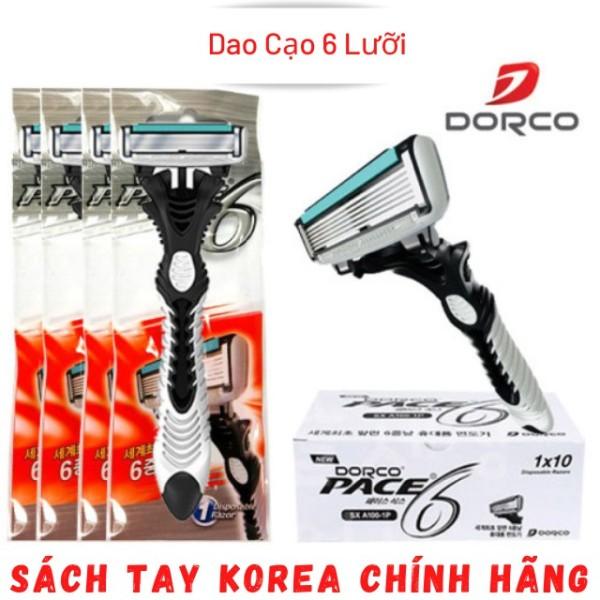 Dao Cạo Râu, Bàn Cạo Dâu 6 Lưỡi Dorco Pace 6, Hàn Quốc [Không Đau Rát] giá rẻ