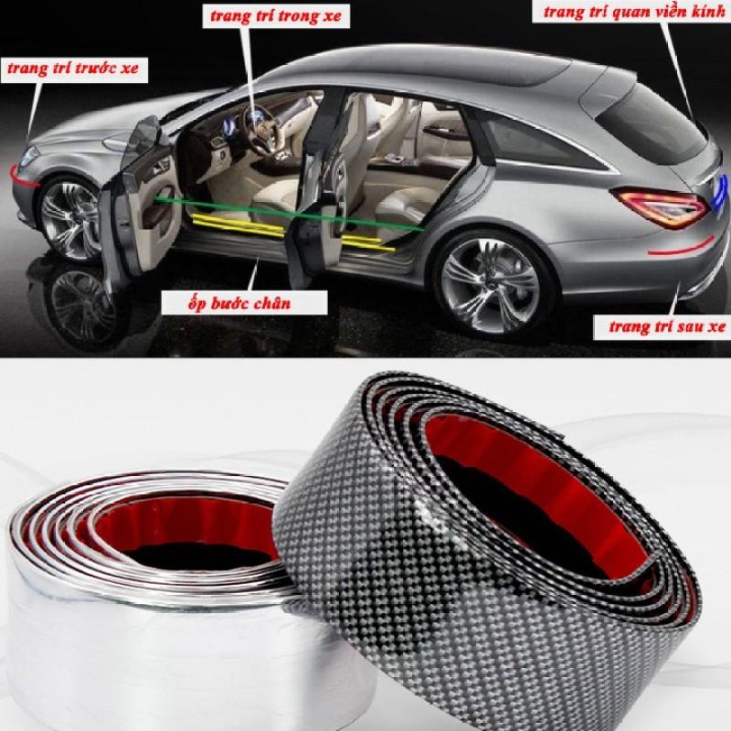 Nẹp carbon,nẹp cacbon trang trí,chống xước cho xe ô tô - bản rộng 2cm, 5cm, 7cm dài 1m