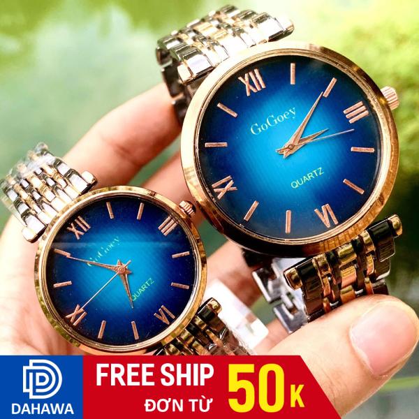 Đồng hồ thời trang nam nữ Gogoey G128, Đồng hồ cặp đôi, mặt chạy kim, 3 màu cực sang, dây kim loại không gỉ, bảo hành 6 tháng bán chạy