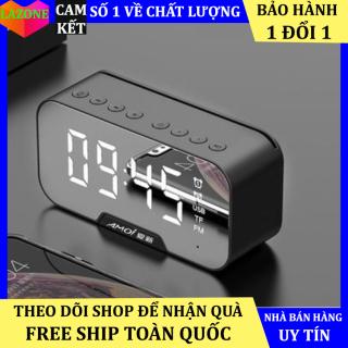 Loa bluetooth Amoi G5 kiêm đồng hồ,mặt gương, tiện lợi mini, 2 đồng hồ báo thức, hiển thị nhiệt độ, dung lượng pin lớn, chất lượng âm thanh cao thumbnail