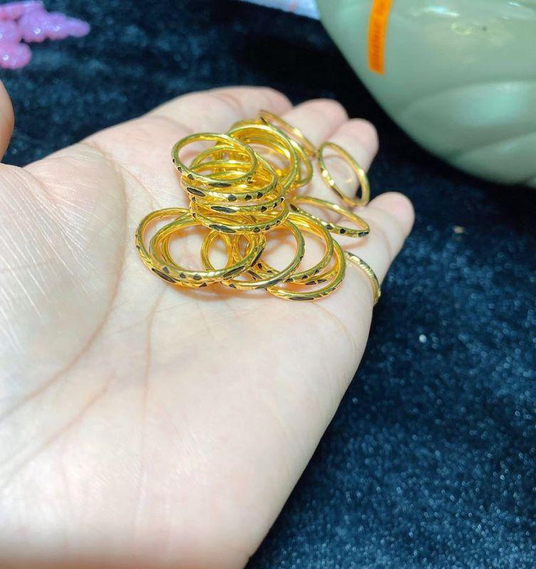 nhẫn lông thú bọc vàng tây kèm phiếu đảm bảo