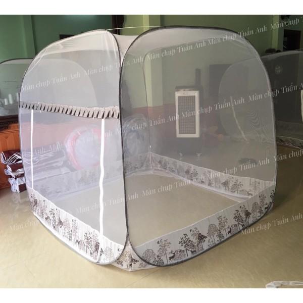 Màn chụp tự bung 💥 ĐỈNH VUÔNG 💥 Mùng chụp cao cấp, có viền chống muỗi, màn chụp gấp gọn nhiều kích thước 1m6*2m, 1m8*2m, 2m*2m2. Hàng Việt Nam chất lượng cao