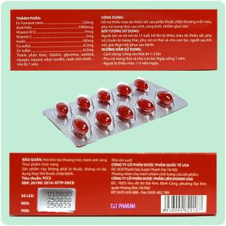 viên uống bổ sung sắt Fero Nano Giúp bổ sung Sắt, Acid Folic cho người thiếu máu não, phụ nữ mang thai và sau sinh hộp 30 viên 4