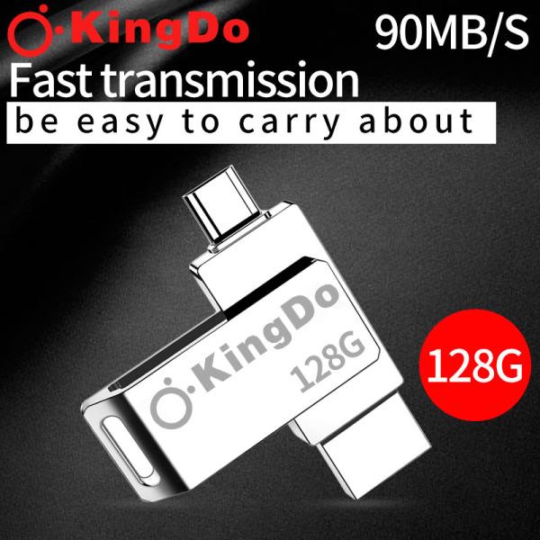 Bảng giá USB 64GB/128GB siêu gọn vỏ kim loại (Màu Bạc) tặng kèm đầu chuyển Kingdo OTG Phong Vũ