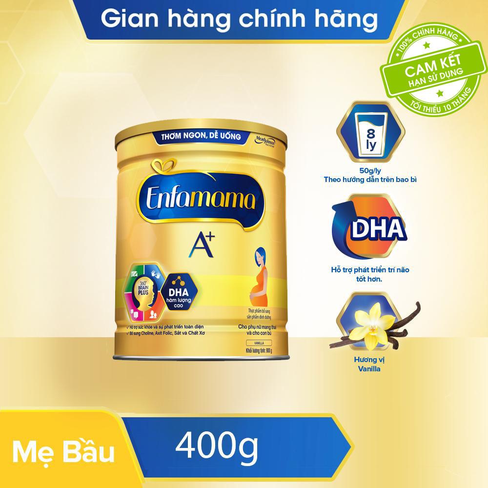 [FREESHIP ĐƠN 399K] Sữa Bầu Enfamama A+ Hương Vani 400g - Cam Kết HSD Còn ít Nhất 10 Tháng Giảm Giá Khủng