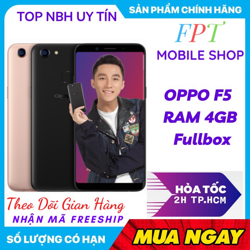 OppoF5 32GB RAM 4GB - Điều hướng bằng cử chỉ, selfie xóa phông, chia đôi màn hình game mode