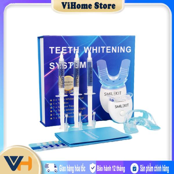 Máy làm trắng răng, tẩy trắng răng tại nhà cực đơn giản, hết ố vàng, răng trắng sáng tự nhiên - Máy làm trắng răng hiệu quả Smile Kit thế hệ mới 2021 - Không hiệu quả hoàn lại tiền 100% giá rẻ
