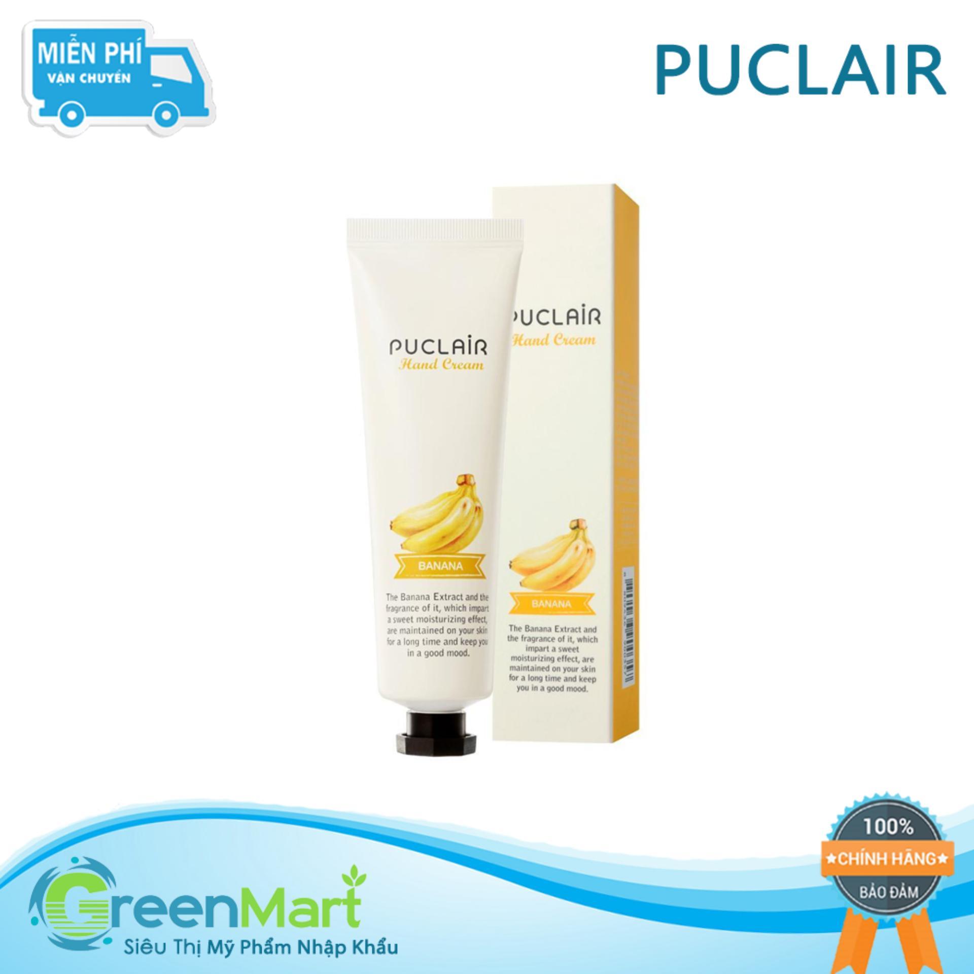 Kem dưỡng tay cấp ẩm dưỡng mềm da sáng bóng Hàn Quốc Puclair Hand Cream 50ml - Chuối