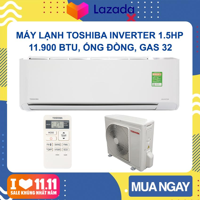 Bảng giá Máy lạnh Toshiba Inverter 1.5 HP RAS-H13C1KCVG-V (Trắng) Phạm vi làm lạnh dưới 20m2, Công suất tiêu thụ 1.09kW/h