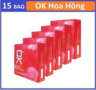Combo 5 hộp bao cao su OKHQ Hoa Hồng 3c thumbnail