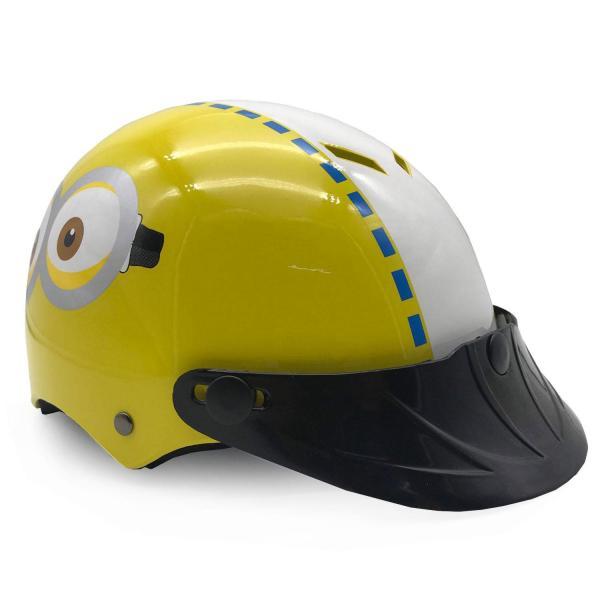 Giá bán Mũ Bảo Hiểm Trẻ Em Nửa Đầu Không Kính Protec Họa Tiết Minion Dễ Thương, An Toàn, Thoáng Nhẹ - LEDORA