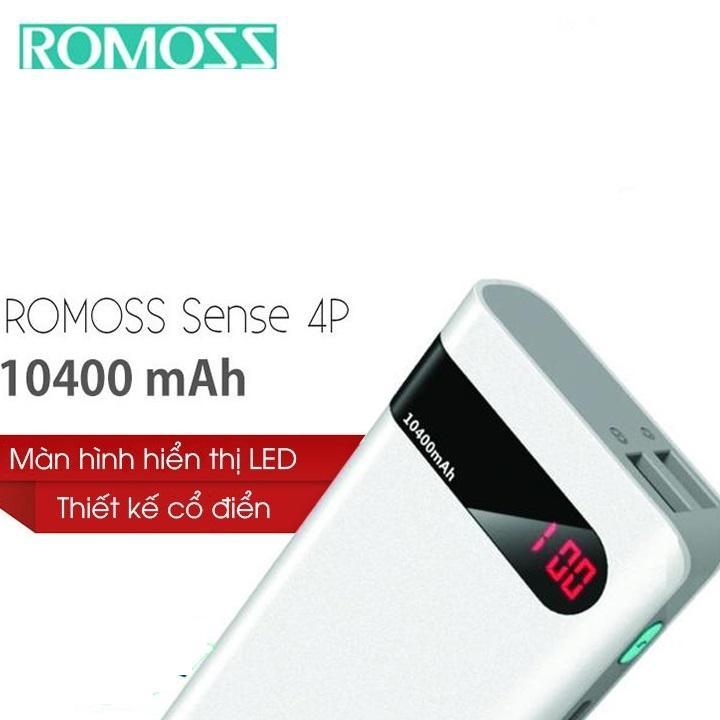 (Giá Siêu Huỷ Diệt) Pin Romoss Sense 10400 có màn hình led cao cấp, sạc siêu nhanh, hỗ trợ 2 cổng sạc