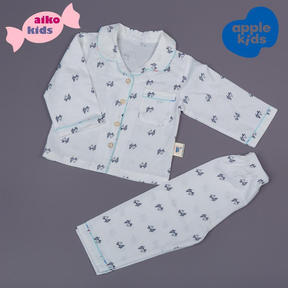 Giá bán Pijama/đồ mặc nhà linen trắng cho bé, thiết kế và sản xuất tại Việt Nam.