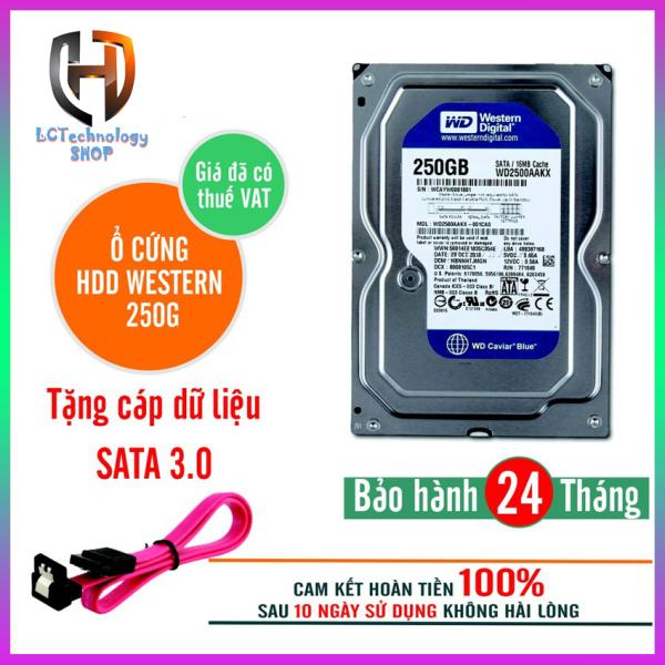 Giá Ổ cứng Western Digital 250GB Blue SATA Hàng nhập khẩu máy bộ siêu bền (Tặng kèm cáp sata xịn), bảo hành 2 năm, hỗ trợ cài đặt - LCTechnology