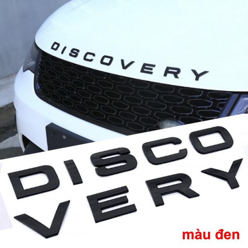 Bộ tem chữ nổi 3D DISCOVERY trang trí xe hơi ô tô MÀU ĐEN NHÁM hàng xịn (hình thật có video)