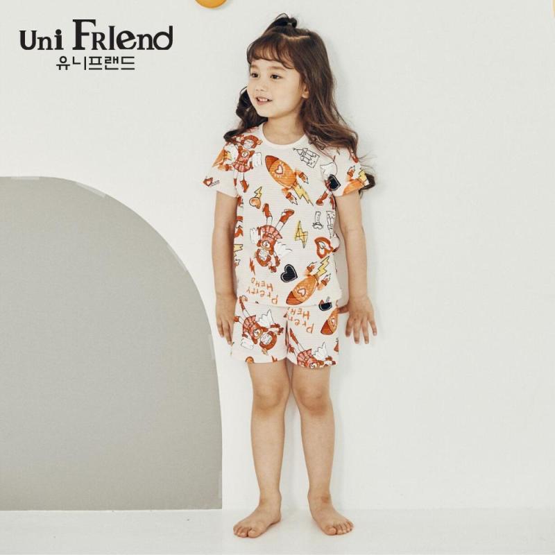 Nơi bán Đồ bộ mặc nhà bé gái Unifriend thun ngắn hoạ tiết vũ trụ U9SSTS25