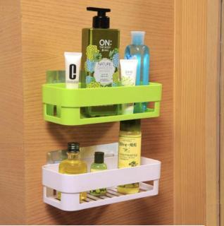 Kệ nhựa treo tường nhà tắm, nhà bếp dán tường chịu lực chất liệu nhựa ABS và PVC bền đẹp, nhiều màu chọn lựa thumbnail