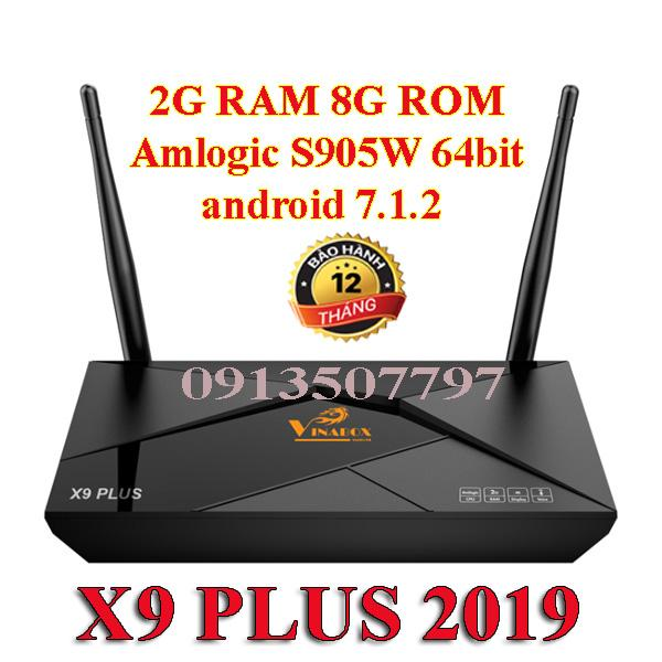 VINABOX X9 PLUS chip Amlogic 905W 64 bit 2G ram