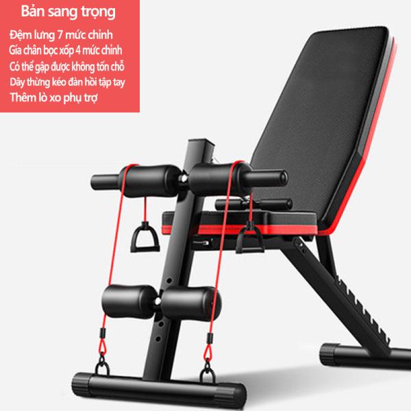 Bảng giá Ghế tập tạ đa năng Ghế gập bụng chống đẩy tập gym đa năng có thể gấp lại