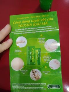 Kem bôi da ngăn ngừa mụn, giảm thâm Yoosun Rau Má (tube 25g) (xanh) thumbnail