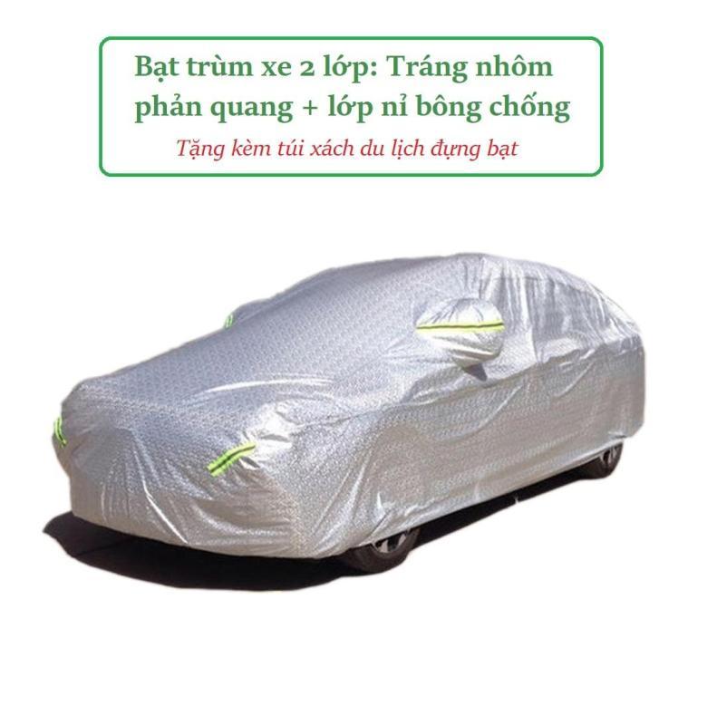 Bạt trải phủ che ô tô, áo trùm phủ xe hơi, xe ô tô tráng nhôm vân 4D cho xe 4 chỗ đến 7 chỗ theo size, phản quang chống nóng, mưa, xước sơn