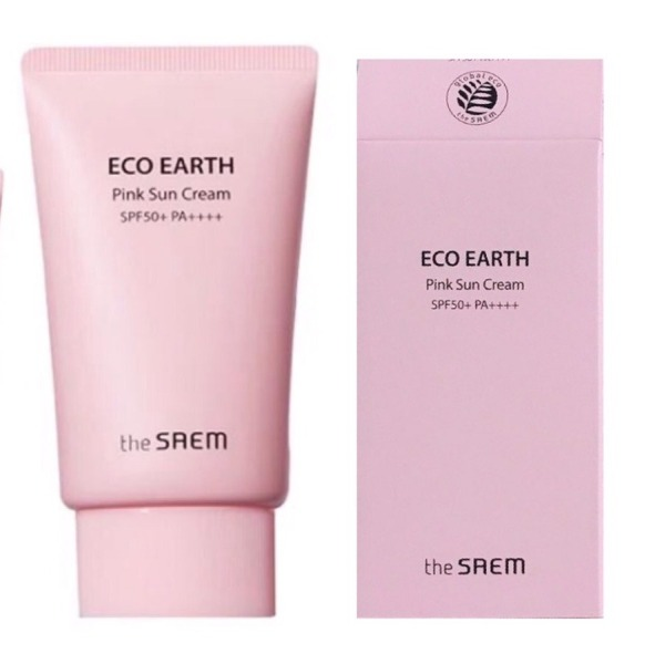 [AUTH - Sẵn] Kem Chống Nắng The Saem Eco Earth Power Pink (SPF 50+/PA)+++(Mẫu Mới)