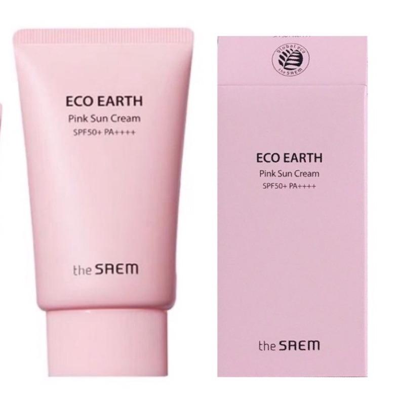 [AUTH - Sẵn] Kem Chống Nắng The Saem Eco Earth Power Pink (SPF 50+/PA)+++(Mẫu Mới) nhập khẩu