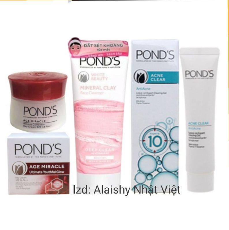 Bộ chăm sóc da Pond chống lão hóa gồm 3 sản phẩm giảm mụn, trắng hồng giá rẻ