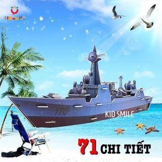 Đồ Chơi Trẻ Em Ghép Mô Hình 3D Tàu Thủy ( Thuyền ) 71 Chi Tiết Bằng Giấy Ép Bọt Biển Phát Huy Khả Năng Tư Duy Và Rèn Luyện Tính Kiên Trì Cho Trẻ Từ 4 Tuổi Trở Lên thumbnail