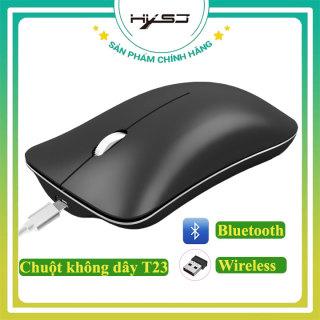 Chuột không dây bluetooth HXSJ T23- Hàng chính hãng, Chuột máy tính không dây sử dụng công nghệ cảm biến quang học DPI 1600 Khoảng cách kết nối 10m, thiết kế hiện đại chất liệu ABS - Bảo hành 12 tháng thumbnail