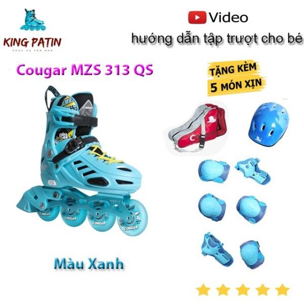 Phân phối Giày Patin Cougar MZS 313 QS Xanh