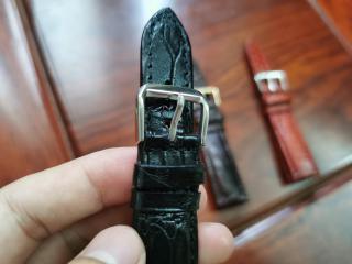 Dây da đồng hồ - dây da cá sấu thật Handmade cao cấp đủ size (3 màu) - TẶNG KÈM TOOL THAY DÂY và Khoá thumbnail