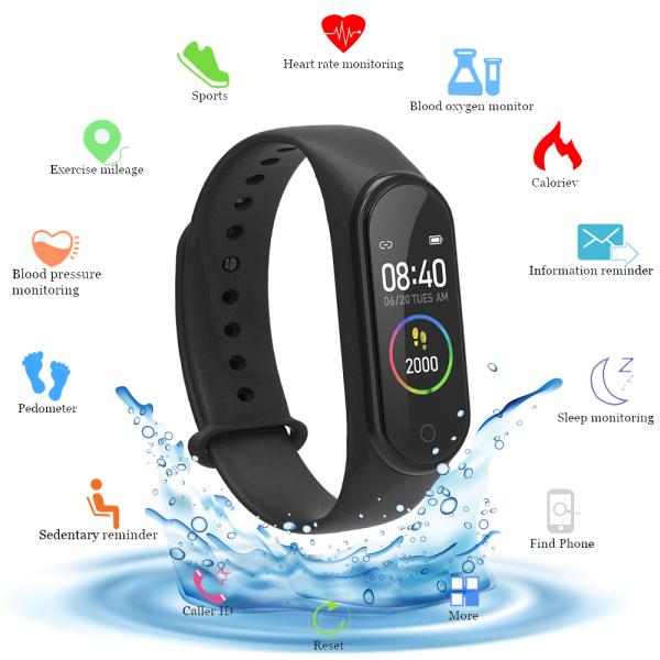 Smart Bracelet m4 Smart Band Pedometer Wristband Sport Bracelet Fitness Tracker Smart Watch Heart Rate Blood Pressure Monitor Smartband
