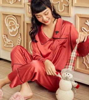 Đồ bộ mặc nhà nữ pijama dài tay Lụa cao cấp VIBES Long Sleeve Py Set thumbnail