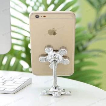 Giá đỡ điện thoại đế hút chân không 2 đầu, giá đỡ hình hoa, phụ kiện điện thoại giá rẻ,...