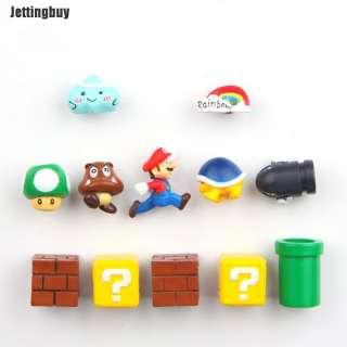 Miếng Dán Tủ Lạnh Jettingbuy 3D, Miếng Dán Nam Châm Trang Trí Tủ Lạnh 3D Super Mario Cổ Điển