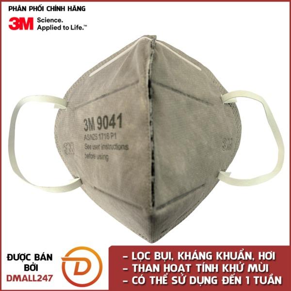 Khẩu trang than hoạt tính chống bụi, mùi hôi và kháng khuẩn 3M 9041