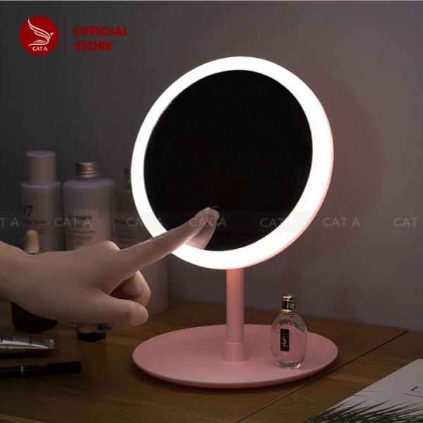 Hàng có sẵn - Gương trang điểm để bàn cảm ứng có đèn LED - Bộ sản phẩm đa năng hữu dụng siêu hot 2020 giá rẻ