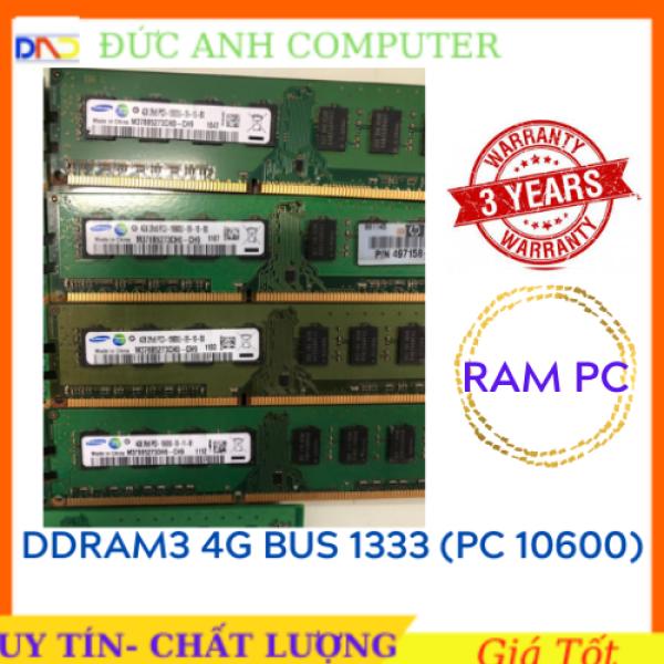 Bảng giá Ram DDR3  Ram DDR3 PC 4G Bus 1333 - Hàng Máy Bộ Mỹ- Không Kén- Bảo Hành 3 năm- 1 Đổi 1 - Chân Vàng - Ưu Tiên Samsung- Hynix  4Gb Ram 3 4Gb Bus 1333 Phong Vũ