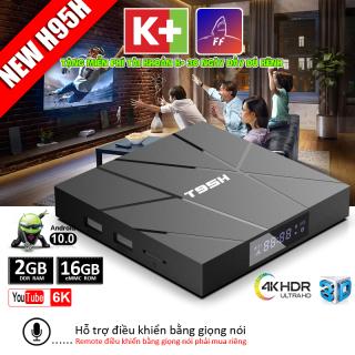 Box tivi android xem phim 4k bộ nhớ 16G ram 2G tv box android 10.0 mới nhất tặng tài khoản k+ trải nghiệm miễn phí xem nhiều kênh truyền hình trong nước bảo hành 12 tháng T95H tivi box thumbnail