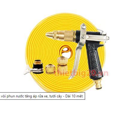 Bộ vòi xịt tăng áp rửa xe, tưới cây GRX03-GRX04
